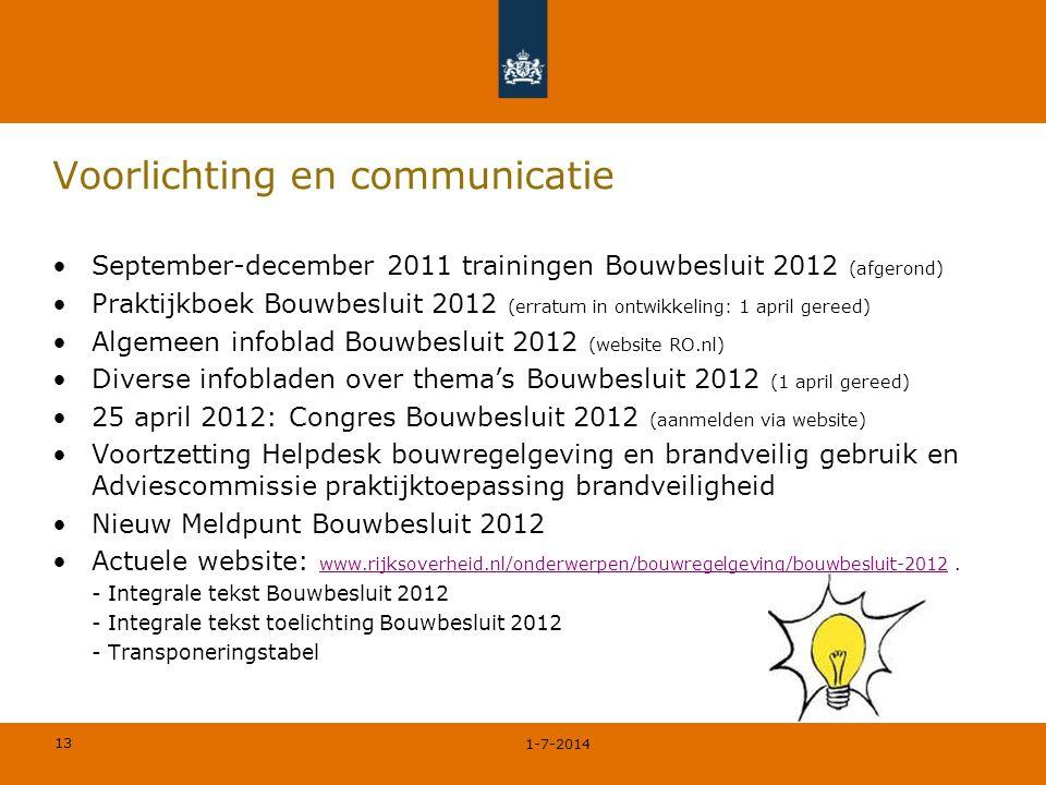 Voorlichting en communicatie