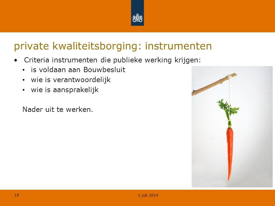 private kwaliteitsborging: instrumenten