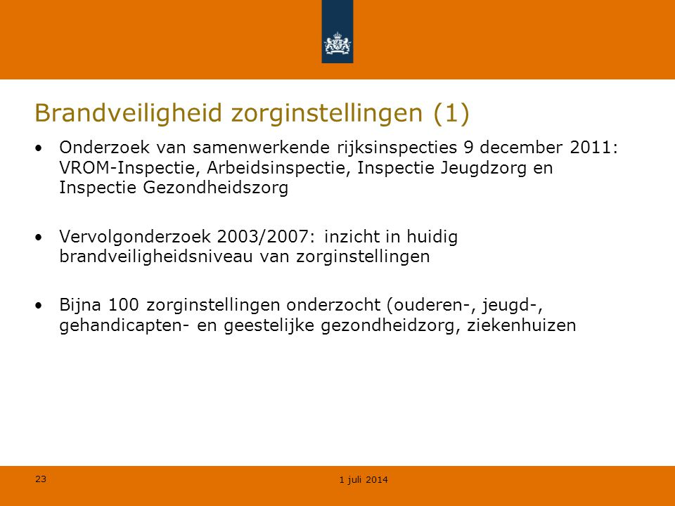 Brandveiligheid zorginstellingen (1)