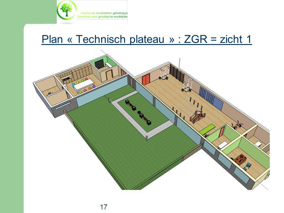 Plan « Technisch plateau » : ZGR = zicht 1