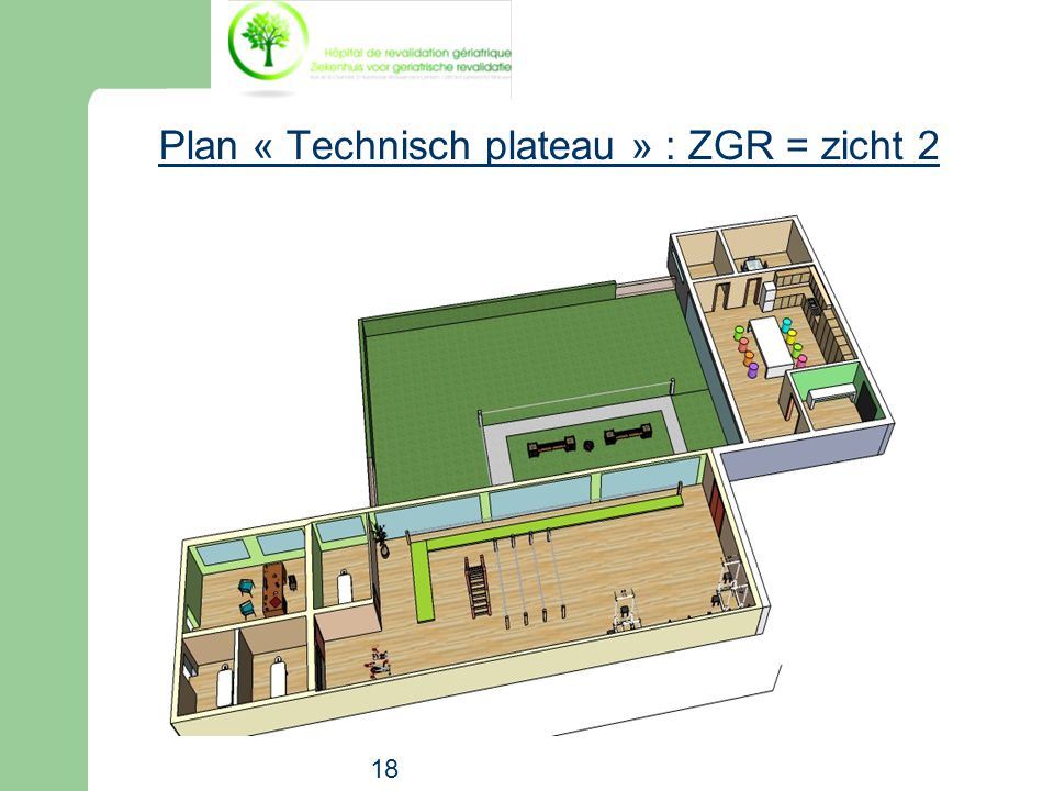 Plan « Technisch plateau » : ZGR = zicht 2