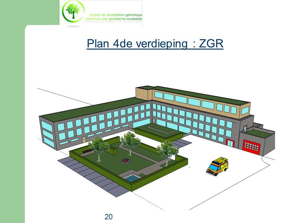 Plan 4de verdieping : ZGR