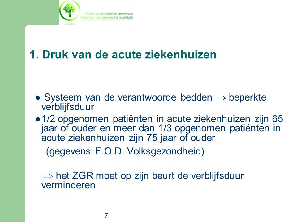 1. Druk van de acute ziekenhuizen