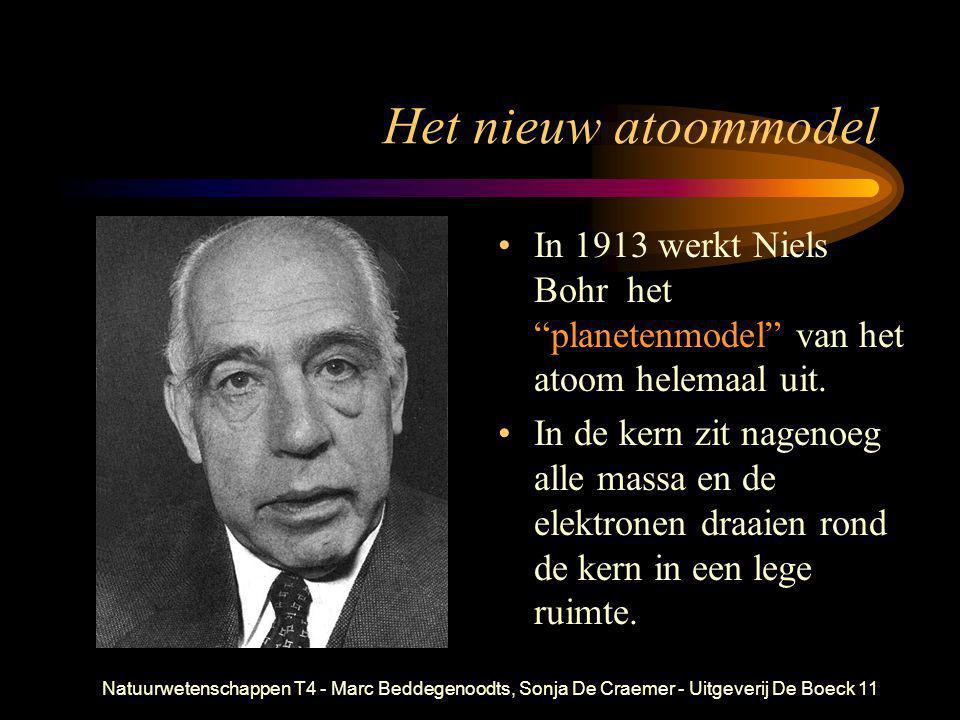 Het nieuw atoommodel In 1913 werkt Niels Bohr het planetenmodel van het atoom helemaal uit.
