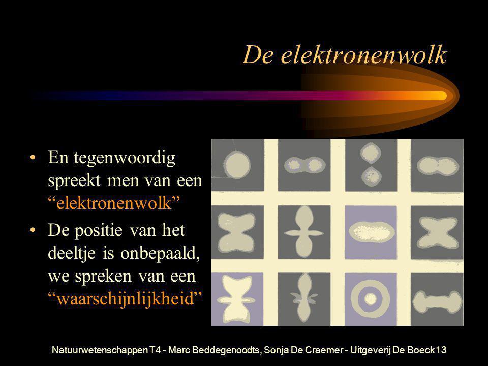 De elektronenwolk En tegenwoordig spreekt men van een elektronenwolk