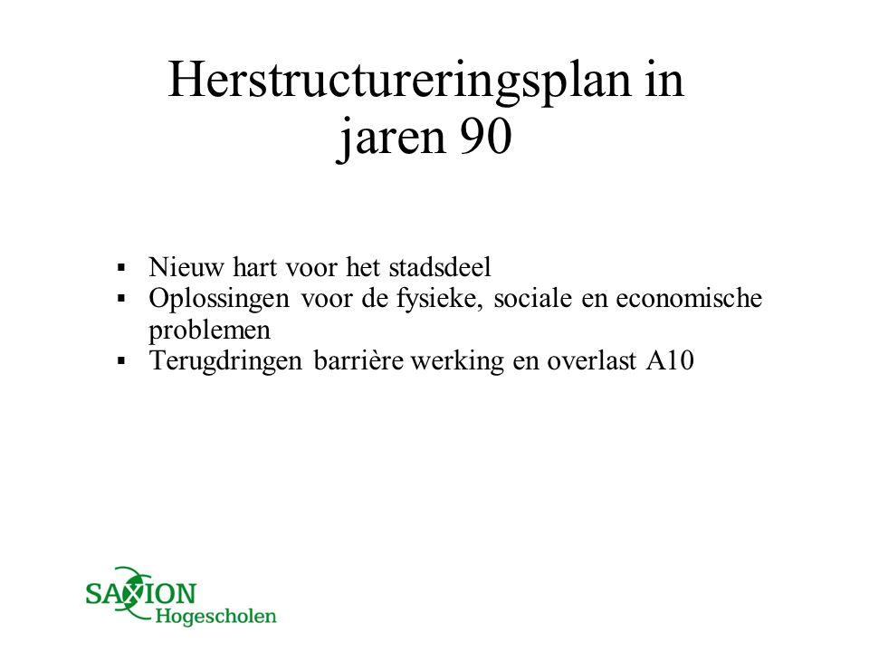 Herstructureringsplan in jaren 90