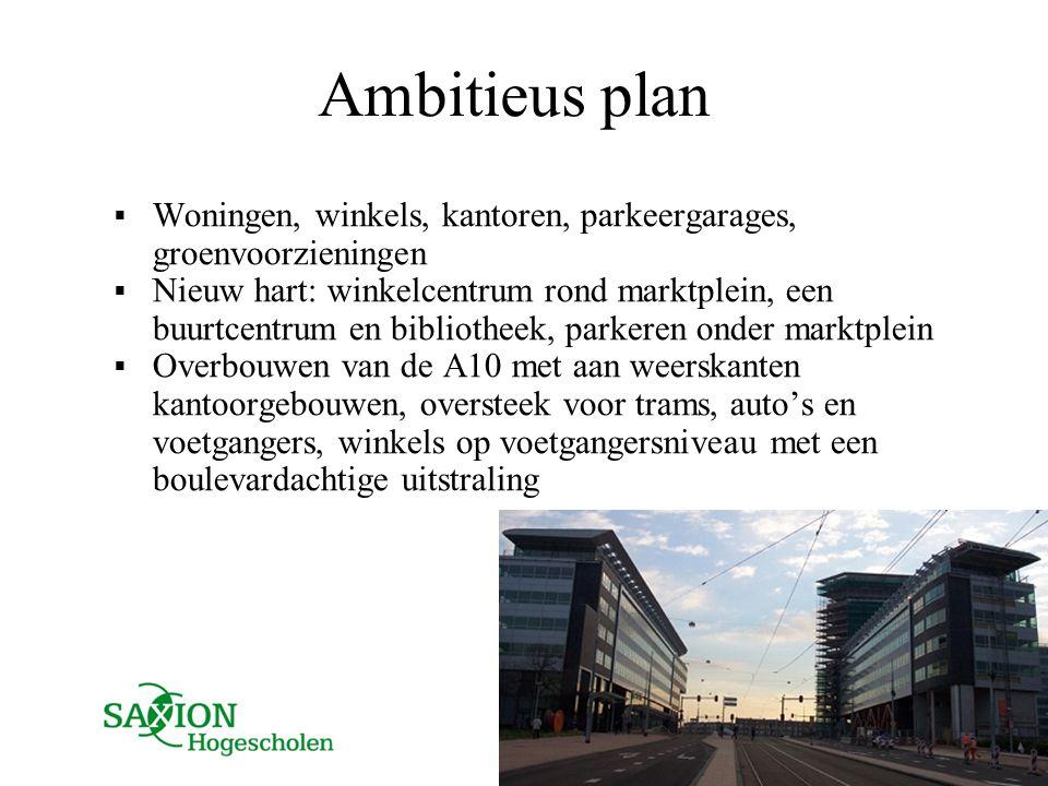 Ambitieus plan Woningen, winkels, kantoren, parkeergarages, groenvoorzieningen.