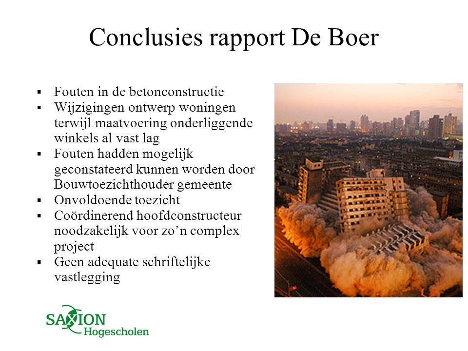 Conclusies rapport De Boer