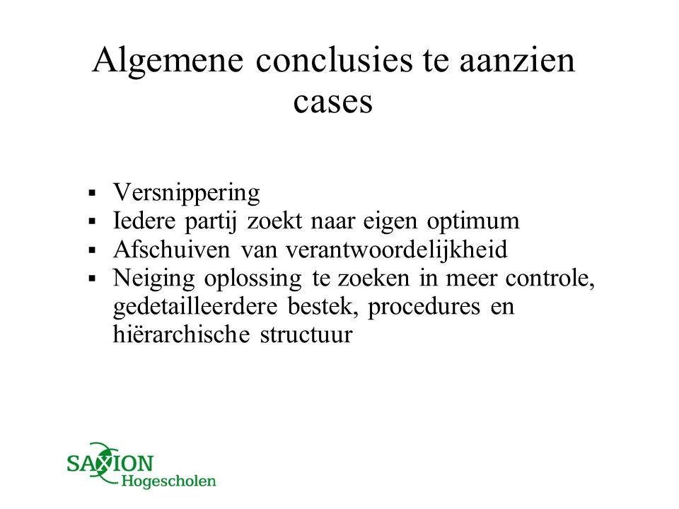 Algemene conclusies te aanzien cases