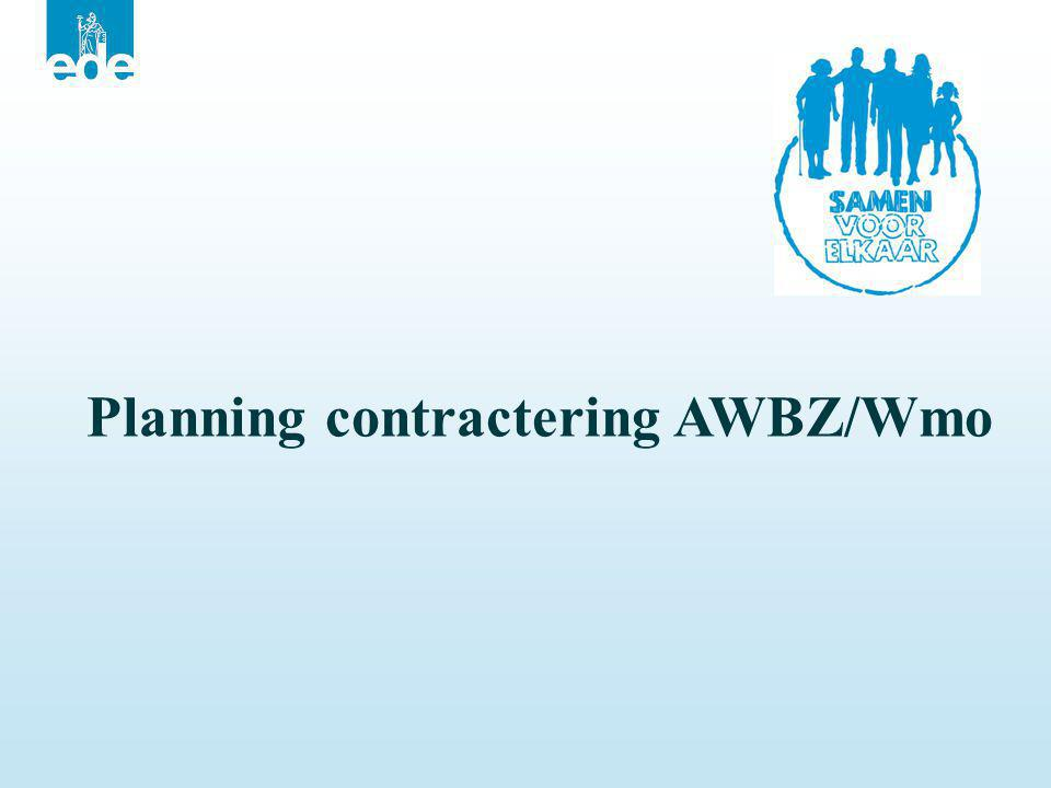 Planning contractering AWBZ/Wmo