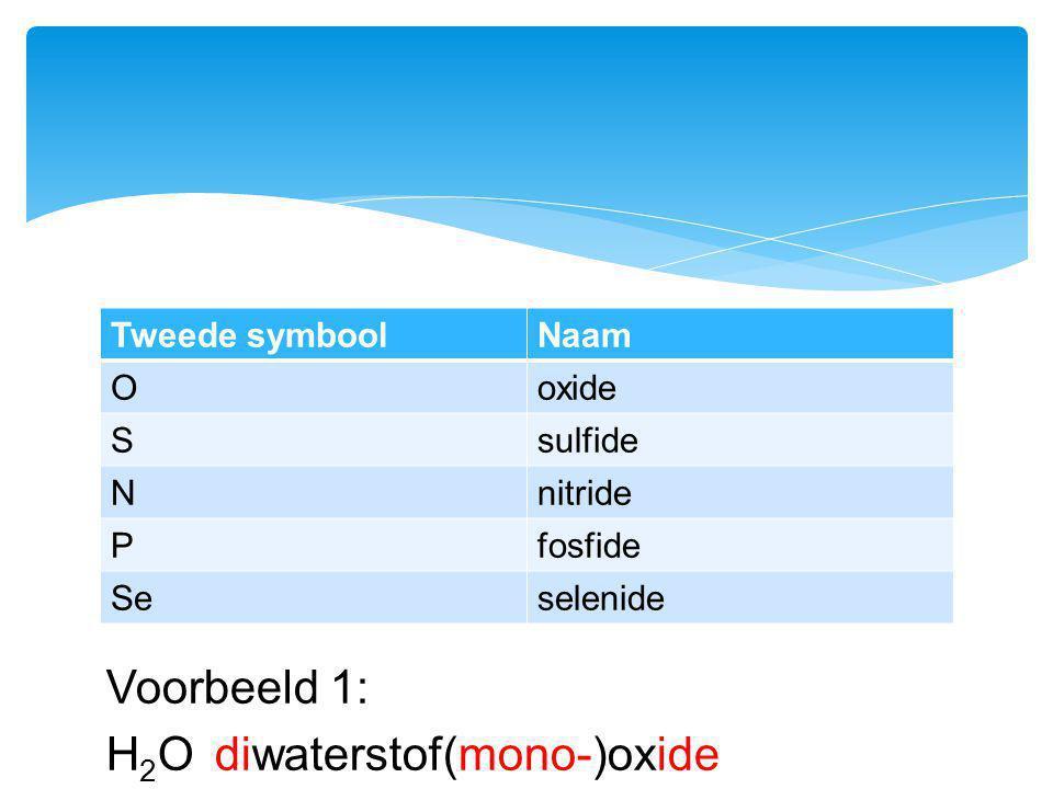 H2O diwaterstof(mono-)oxide