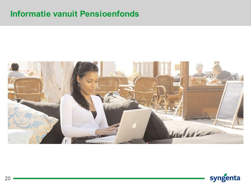 Informatie vanuit Pensioenfonds