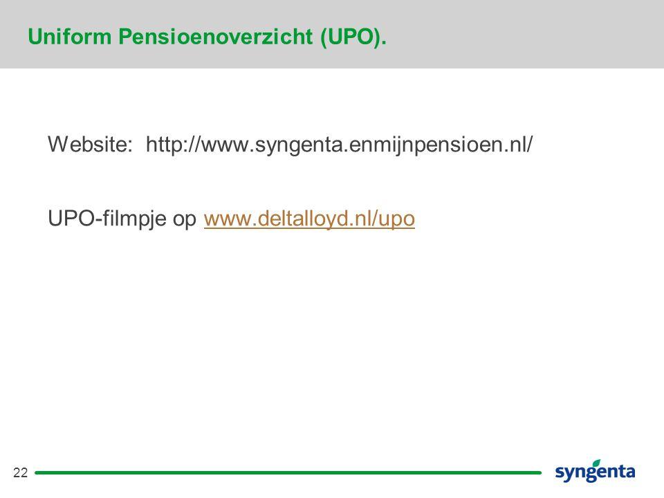 Uniform Pensioenoverzicht (UPO).