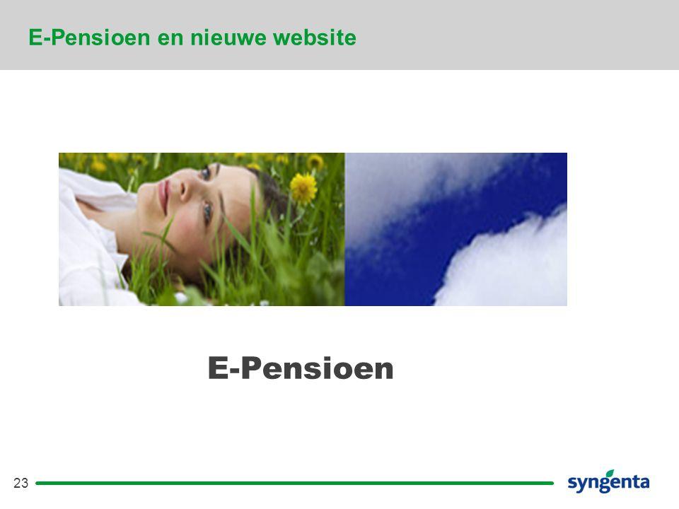 E-Pensioen en nieuwe website