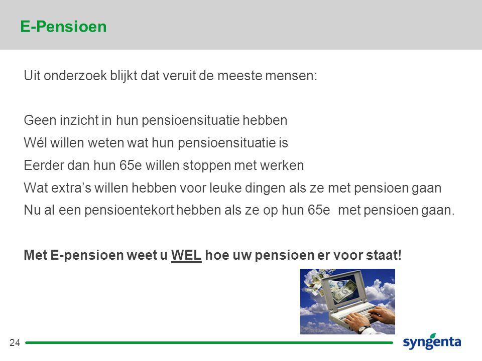 E-Pensioen Uit onderzoek blijkt dat veruit de meeste mensen: