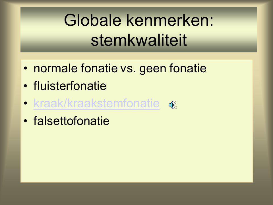 Globale kenmerken: stemkwaliteit