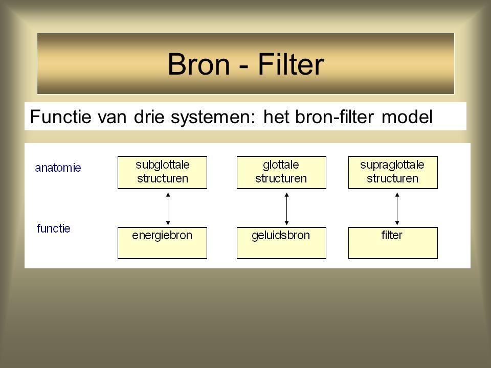 Bron - Filter Functie van drie systemen: het bron-filter model