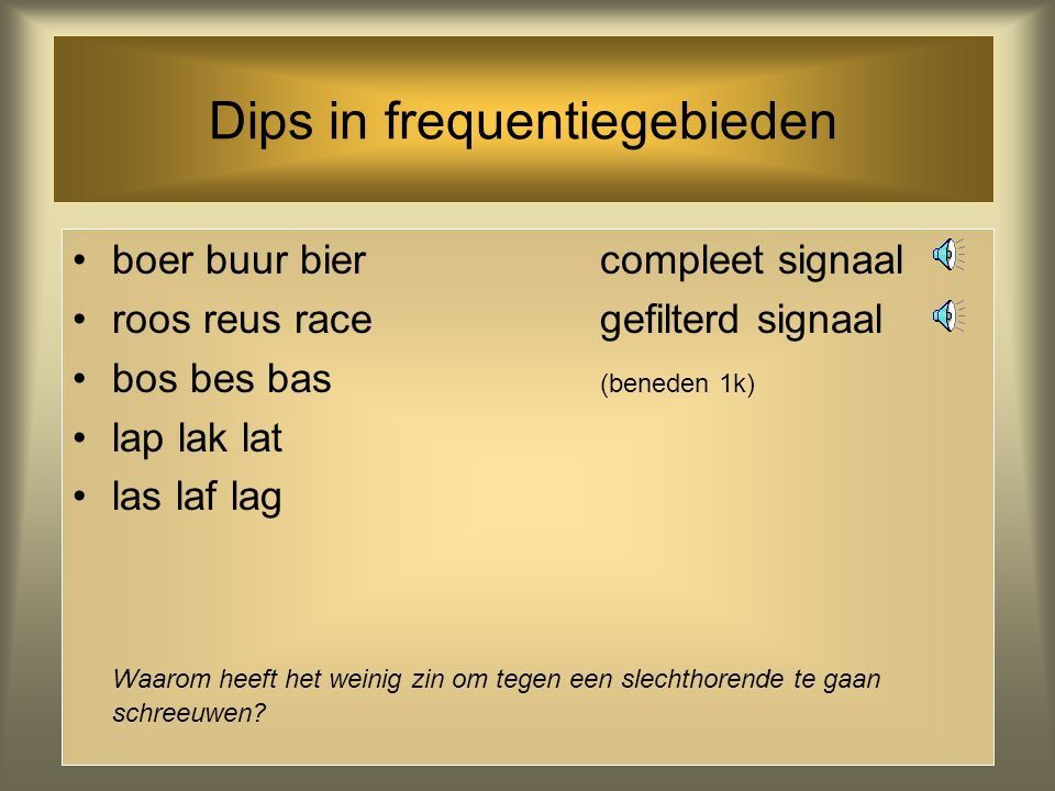 Dips in frequentiegebieden