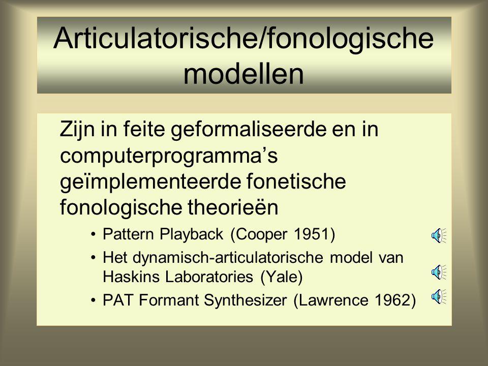 Articulatorische/fonologische modellen