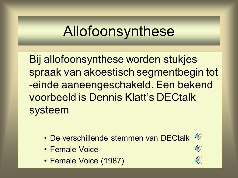 Allofoonsynthese