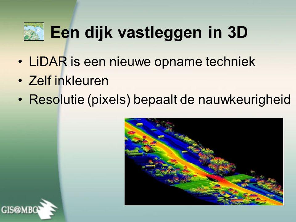 Een dijk vastleggen in 3D