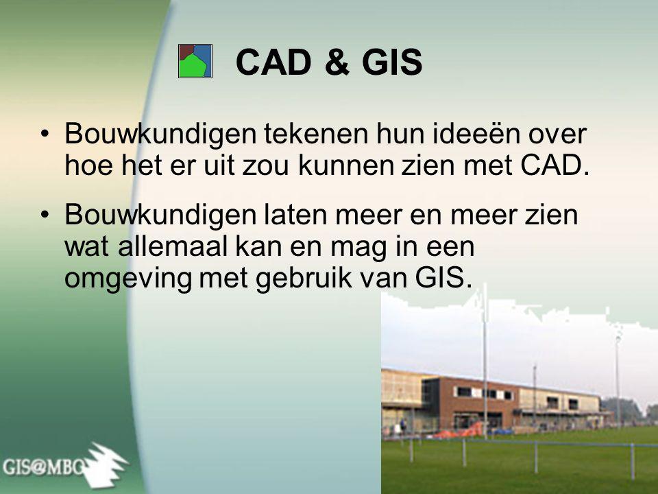 CAD & GIS Bouwkundigen tekenen hun ideeën over hoe het er uit zou kunnen zien met CAD.