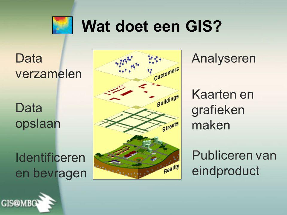 Wat doet een GIS Data verzamelen Analyseren