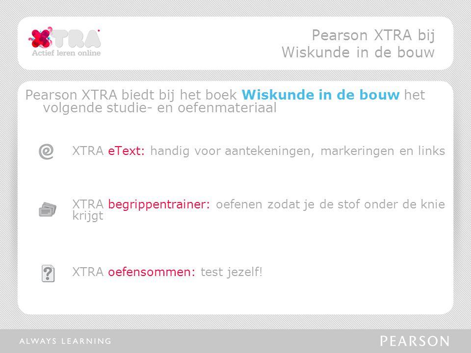 Pearson XTRA bij Wiskunde in de bouw