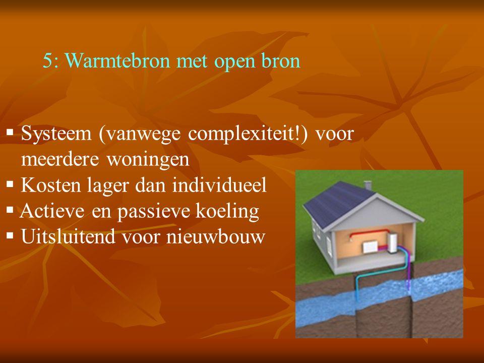 5: Warmtebron met open bron