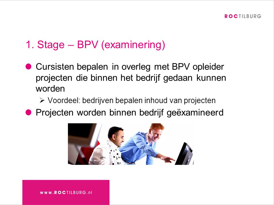 1. Stage – BPV (examinering)