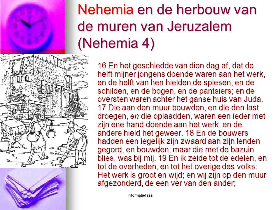 Nehemia en de herbouw van de muren van Jeruzalem (Nehemia 4)