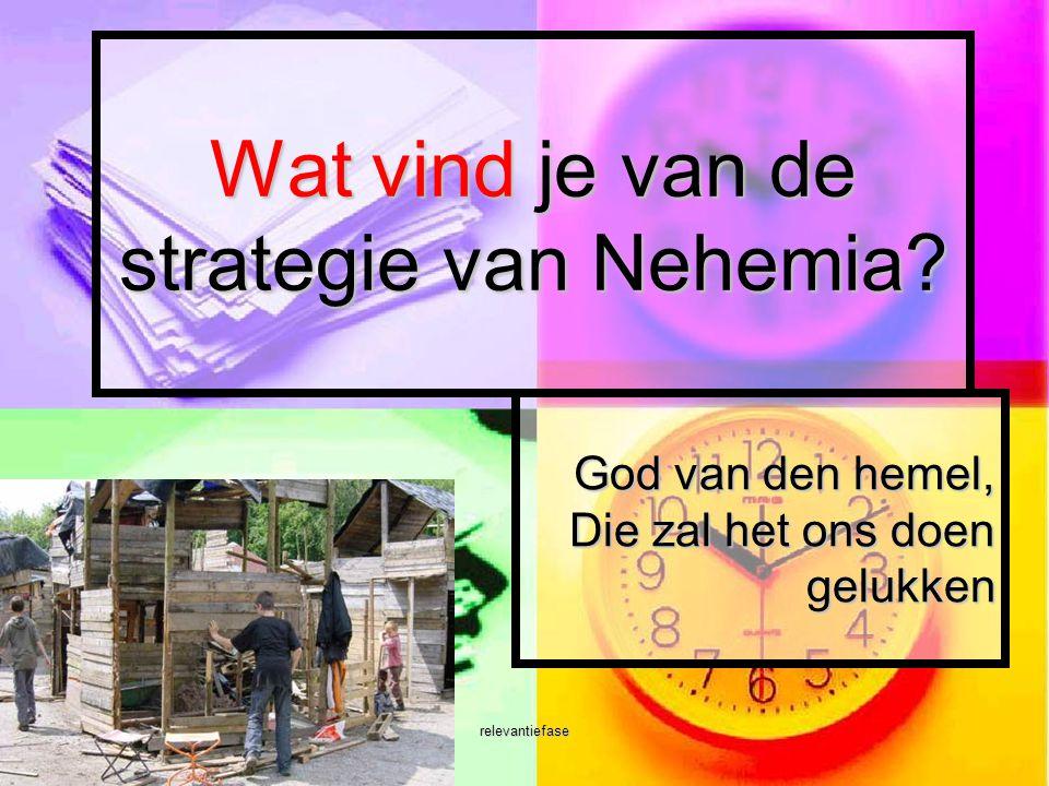 Wat vind je van de strategie van Nehemia