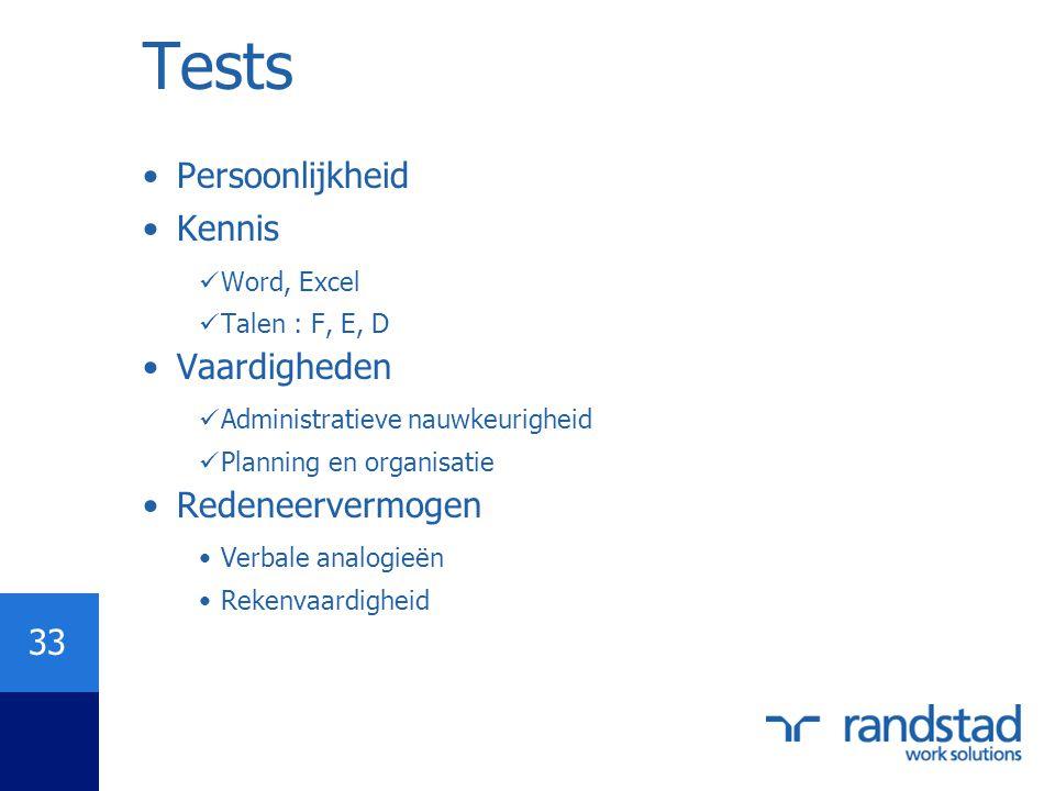 Tests Persoonlijkheid Kennis Vaardigheden Redeneervermogen Word, Excel