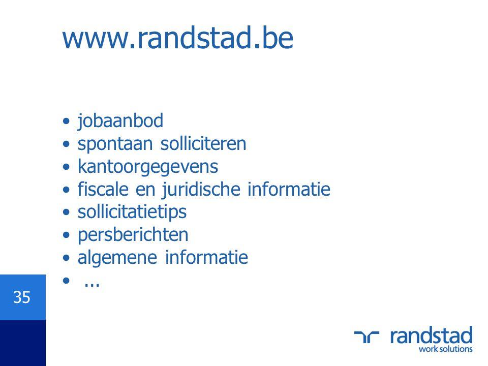 www.randstad.be jobaanbod spontaan solliciteren kantoorgegevens