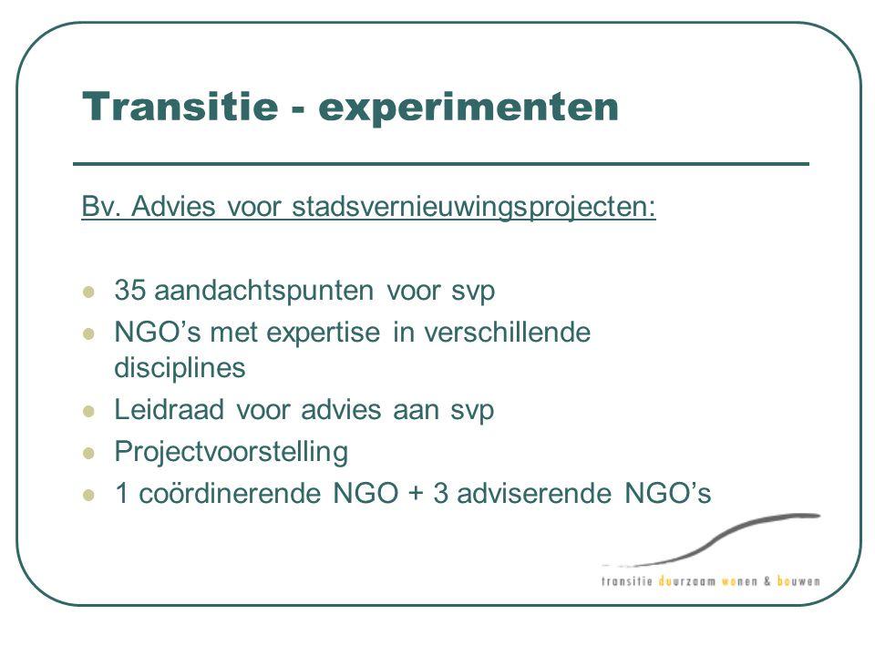 Transitie - experimenten
