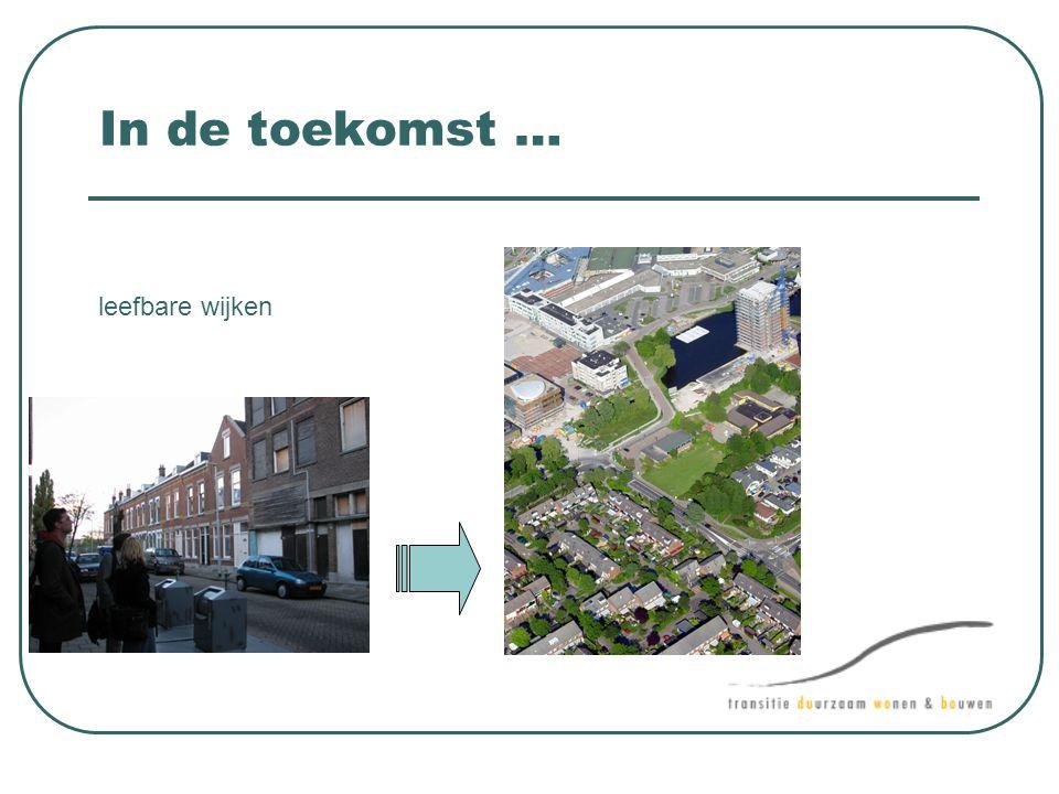 In de toekomst … leefbare wijken