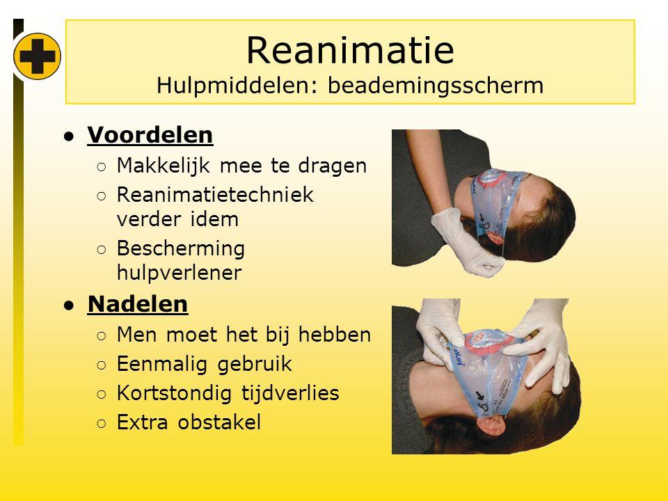 Reanimatie Hulpmiddelen: beademingsscherm