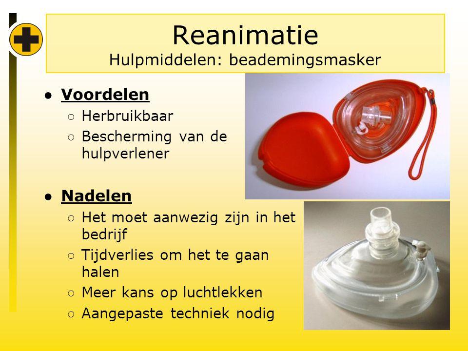 Reanimatie Hulpmiddelen: beademingsmasker