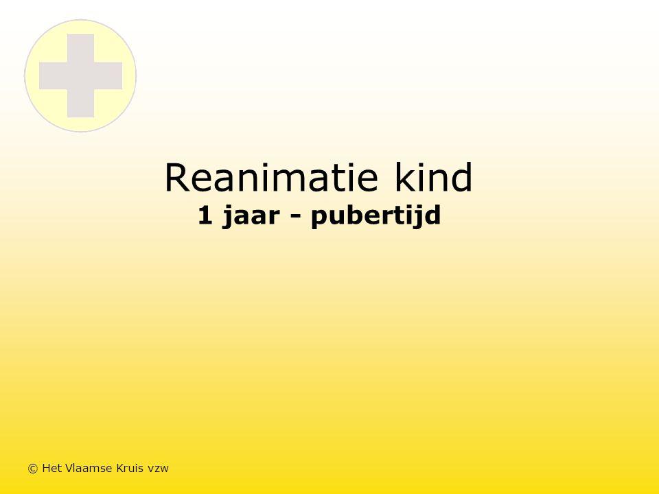Reanimatie kind 1 jaar - pubertijd