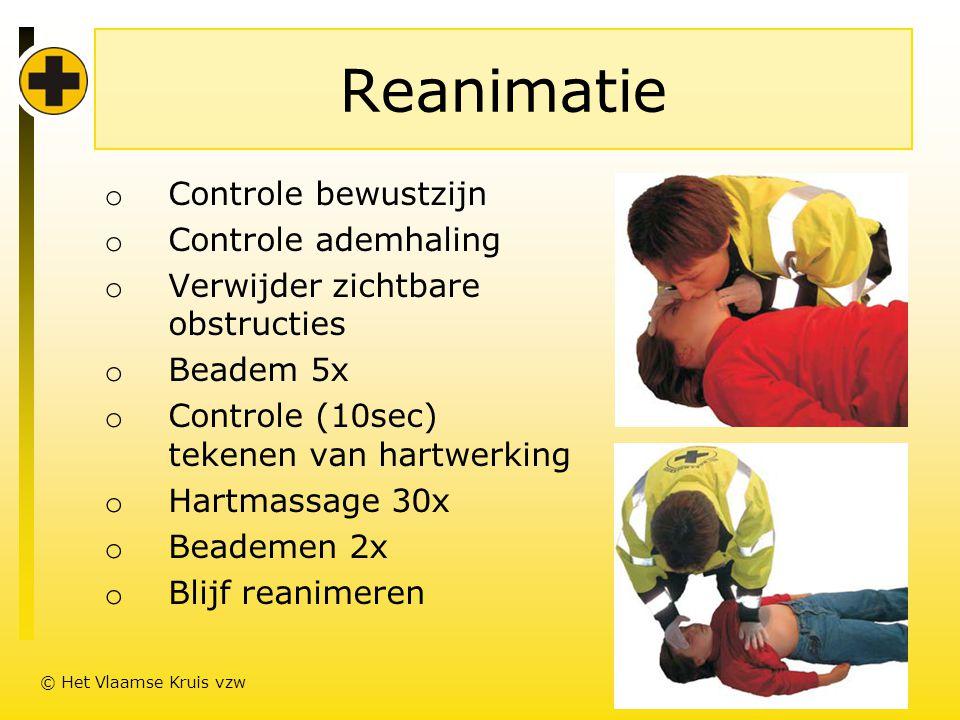Reanimatie Controle bewustzijn Controle ademhaling