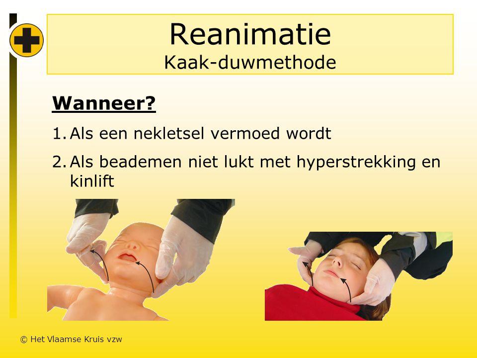 Reanimatie Kaak-duwmethode