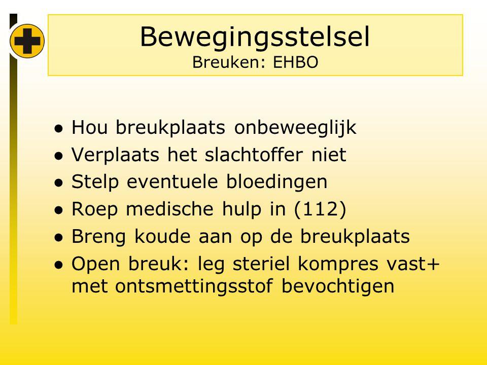 Bewegingsstelsel Breuken: EHBO