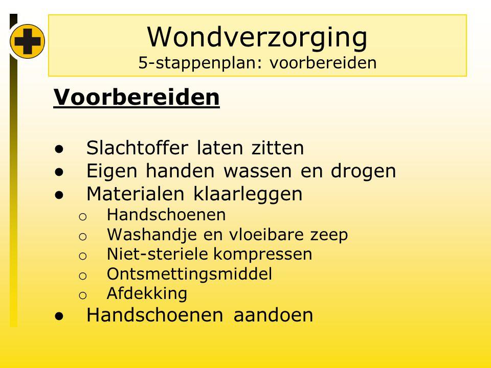 Wondverzorging 5-stappenplan: voorbereiden