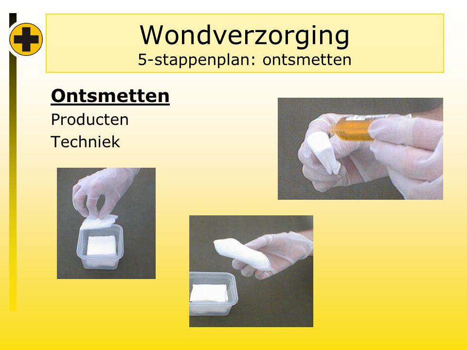 Wondverzorging 5-stappenplan: ontsmetten