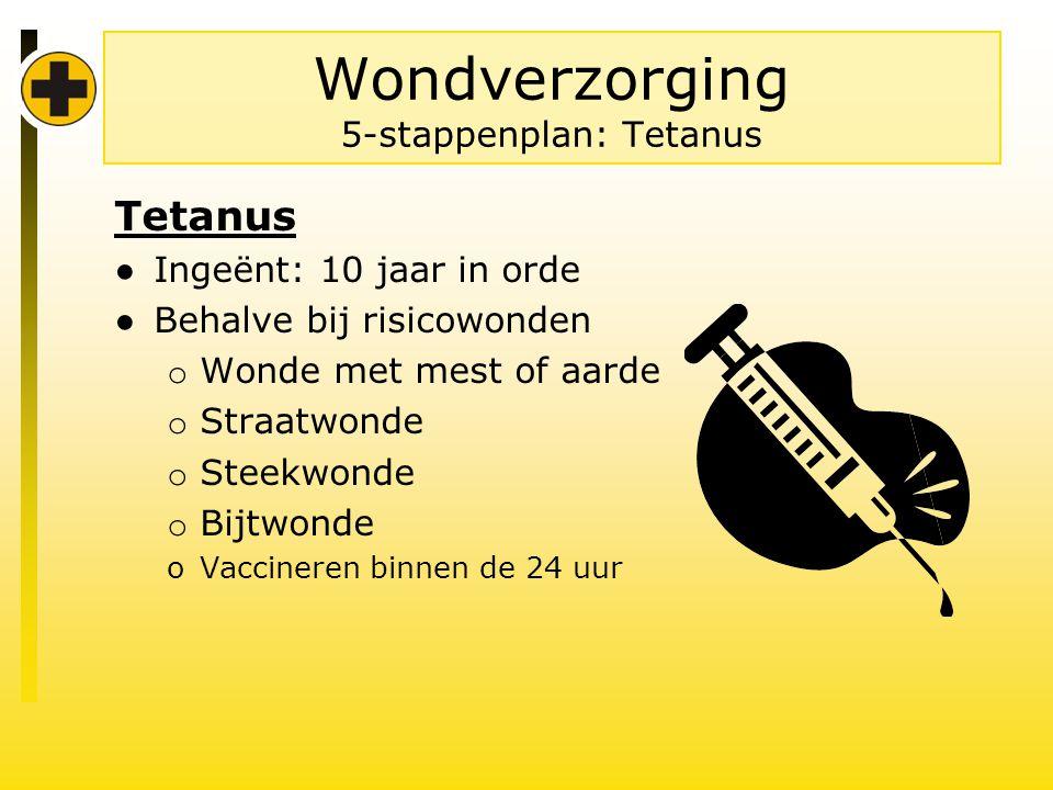 Wondverzorging 5-stappenplan: Tetanus