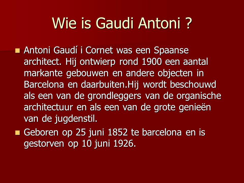 Wie is Gaudi Antoni