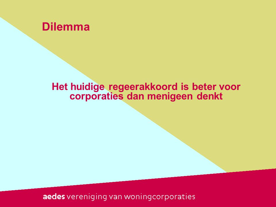 Het huidige regeerakkoord is beter voor corporaties dan menigeen denkt