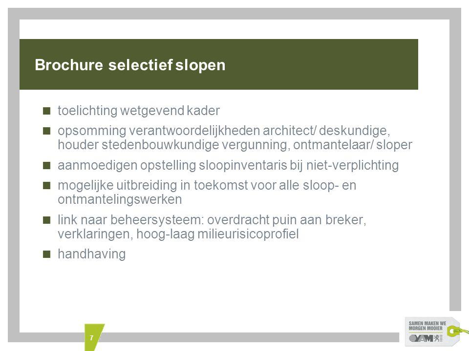 Brochure selectief slopen