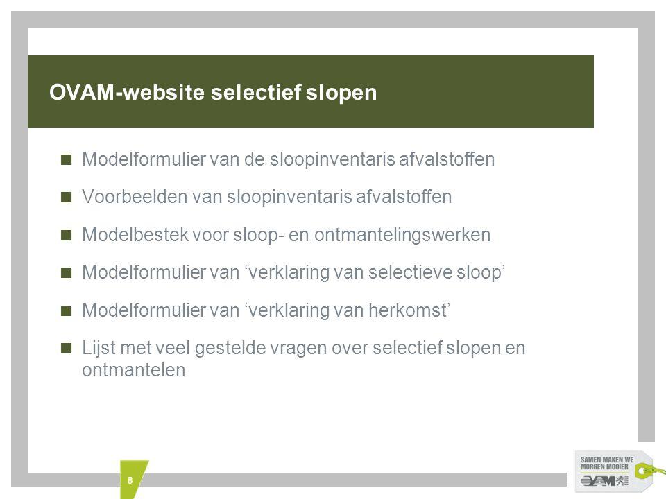 OVAM-website selectief slopen