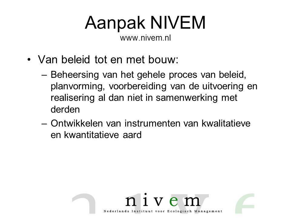 Aanpak NIVEM www.nivem.nl